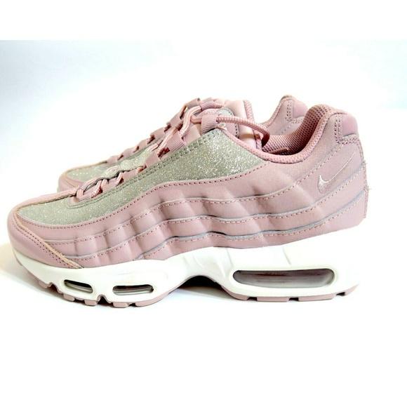 half off 9d0d5 814fb NWOB Nike Air Max 95 SE Silver Pink Rose Shimmer